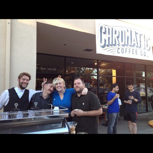 Team of the Chromatic Coffee Company. From the left: Patrick Martin, Hiver van Geenhoven, Otessa Crandell and Benjamin Henderson